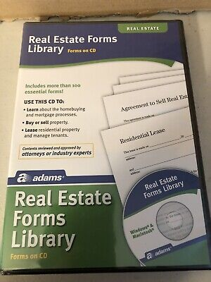 Adams Real Estate Forms Library On Cdss502new Sealed