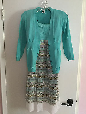 M Missoni Ribbed Cardigan and Matching Strapless Dress Size 44 EUC, used for sale  Forest Hills