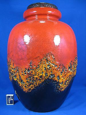 "Stunning 70´s design Scheurich "" Fat Lava "" pottery Keramik floor vase 286 - 51"