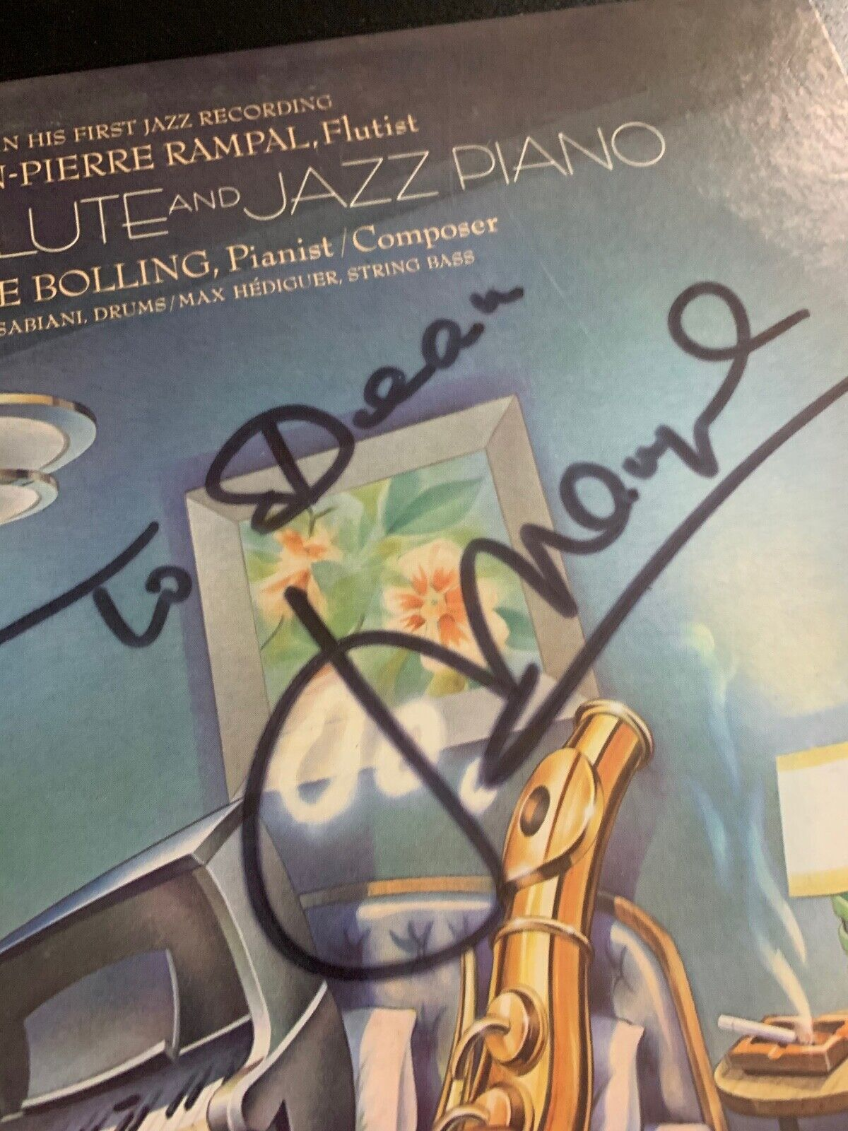 PAIR OF FLUTE CLASSICAL INSTRUMENTAL LP RECORDS BOTH AUTOGRAPHED SUSAN GREENBERG - $19.99
