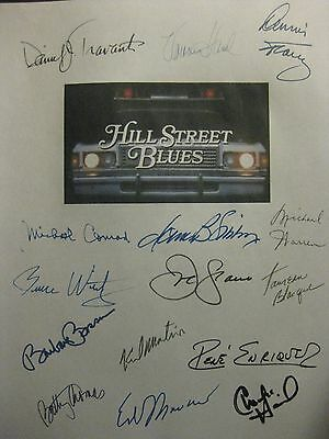 Hill Street Blues Signed Script Daniel J Travanti Veronica Hamel Dennis Franz rp
