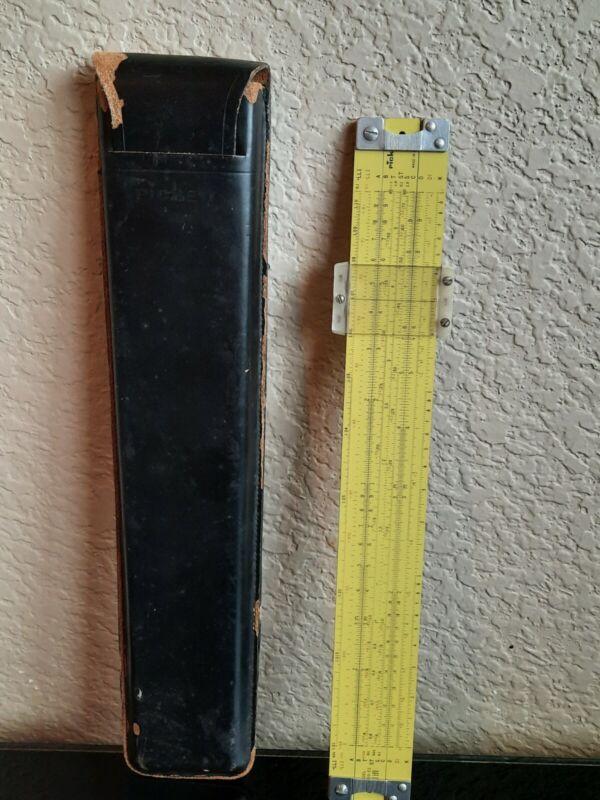 PICKETT SLIDE RULE VINTAGE ALL METAL 1962 N-500-ES IN CASE T1