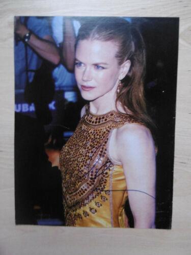 Nicole Kidman Autogramm signed A4 Magazinbild