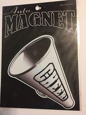 Cheerleader Megaphone Magnet Magnetic Car Auto Sport Kitchen Fridge (Megaphone Magnet)