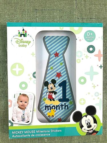 Disney Mickey Mouse Monthly Milestone Stickers Baby Boys Tie Belly Photo Prop