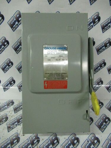 Crouse Hinds GH322N, 60 Amp, 240 Volt, 2P3W, Fusible Disconnect