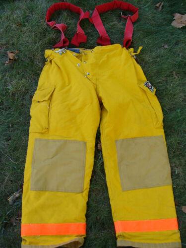 ChiefTain Firefighters Pants Turnout Gear Fireman 31 Waist 43-45 w/ Suspenders