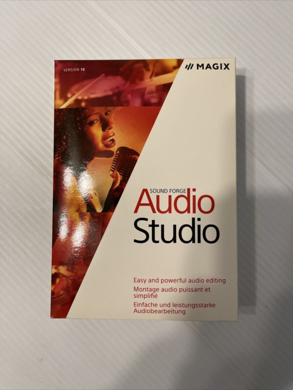 Sound Forge Audio Studio 10 Brand New In Factory Sealed Box