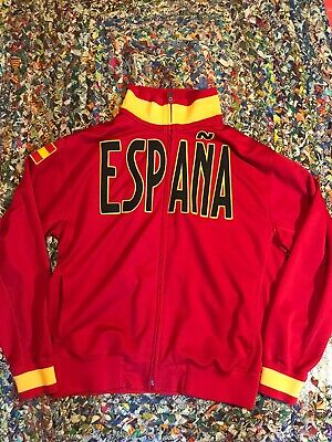 Vintage Kappa Mens Size XL SPAIN Espana Warm Up Jacket Track Soccer Red Rare