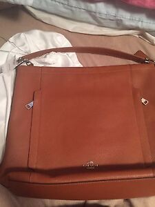 Bnwt authentic tan leather coach