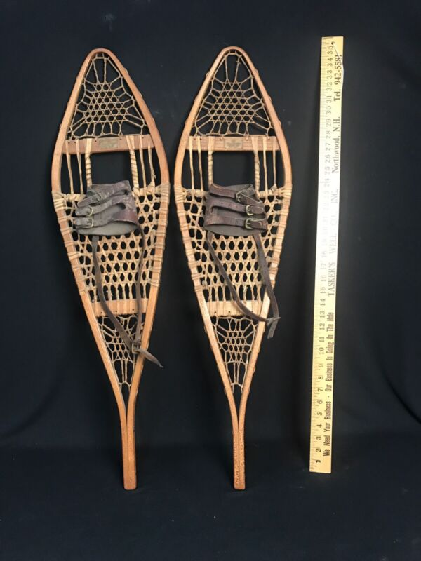 Vintage Abercrombie & Fitch, 1930s Abercrombie and Fitch, Wood Snowshoes, 10x36