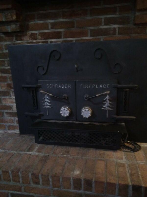 Vintage Schrader Wood Fire Place Insert