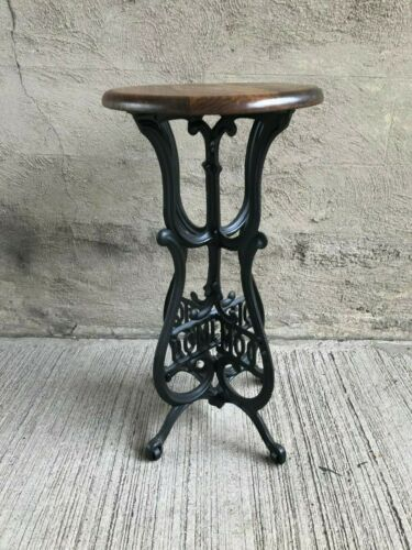 Cast Iron Stool - Custom Fabricated from Antique Sewing Machine Base (#3)