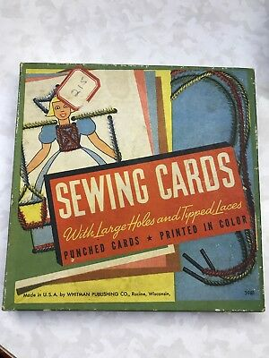 Vintage Whitman 1960 Sewing Cards (Sewing Cards)
