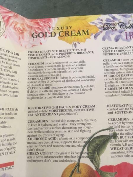 Luxury Gold Face and Body Cream - NESTI DANTE - NEW IN BOX