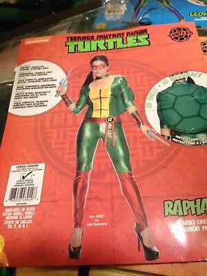 Women's Teenage Mutant Ninja Turtle Costume (TMNT Women's RAPHAEL Jumpsuit Costume~LARGE~NEW~Teenage Mutant Ninja Turtle)