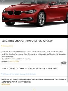 AIRPORT PRIVATE TAXI CHEAPER THAN UBER 647-929-2989