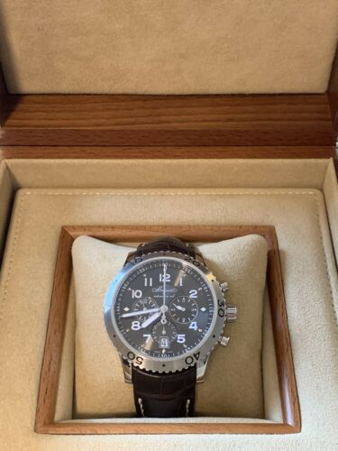 Breguet Chronograph Men's Watch XXI Flyback Leather