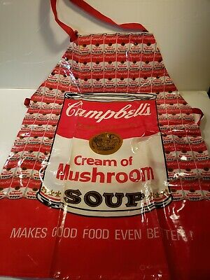 Campbell's soup vintage Andy Warhol pop art apron 1983