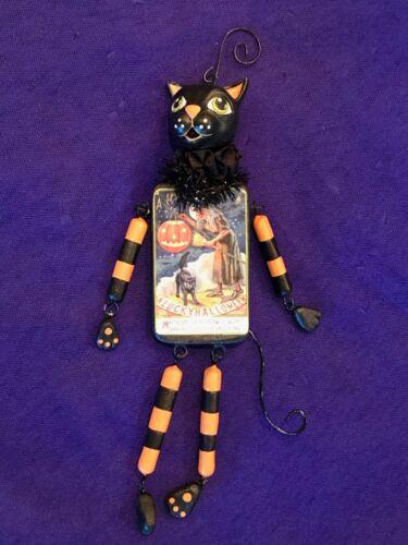 Halloween Cat Dangle Ornament - Bethany Lowe LA7951