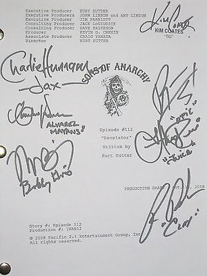 Sons of Anarchy Signed TV Script Revelator Charlie Hunnam Coates Ron Perlman rpt