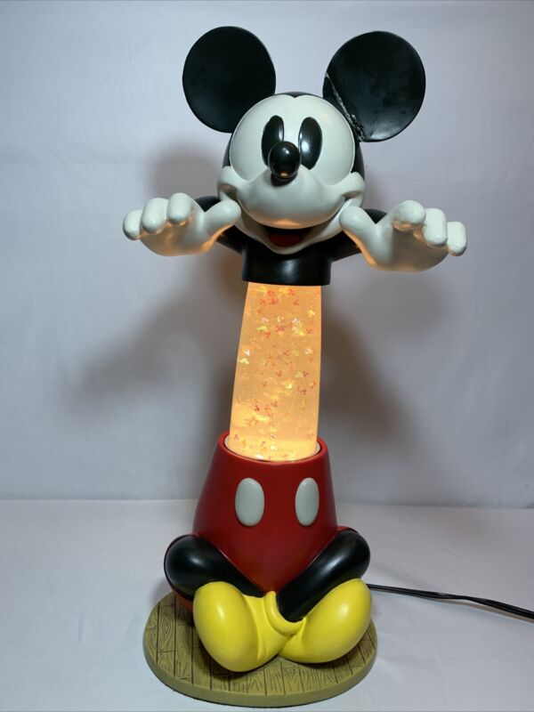 Hard To Get Disney Mickey LAVA LAMP FIGURE Light w/ Mickey Mouse Head Ears Icons