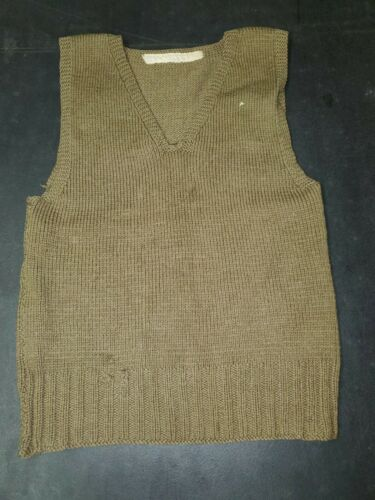 WWII American Red Cross Knit Sweater Vest