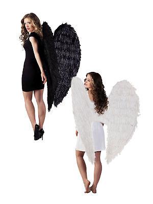 120x120cm Flügel Engel mit Federn Accessoires Kostüm (Engelsflügel Mit Federn)