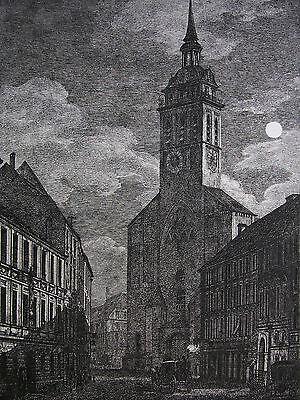 DOMENICO QUAGLIO ´MÜNCHEN, PETERSKIRCHE, SANKT PETER´ GROSSE RADIERUNG, 1811