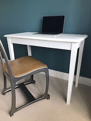 Upcycled side table, perfect home office laptop computer desk