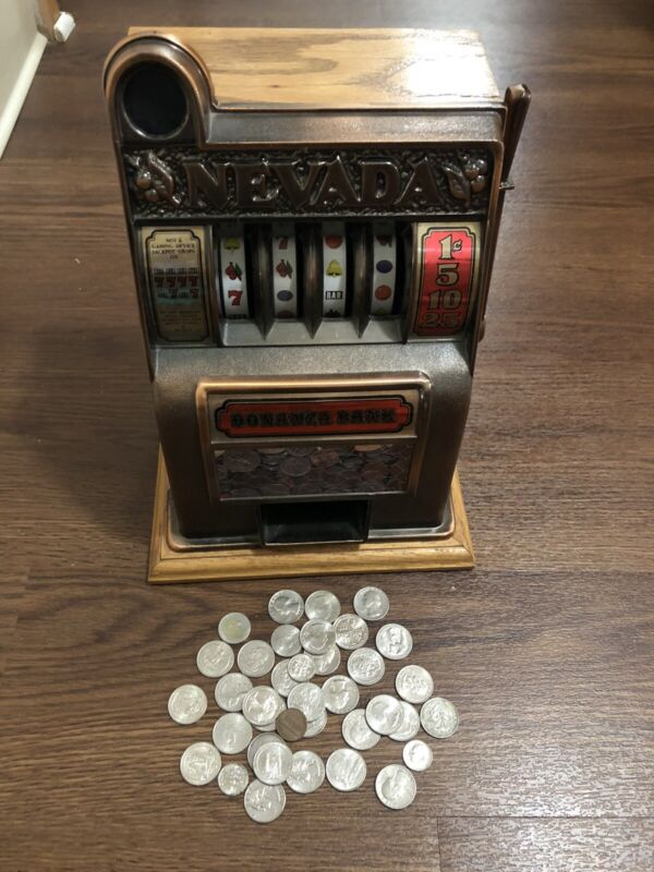 COLLECTIBLE VINTAGE NEVADA SLOT MACHINE RARE NICE CONDITION