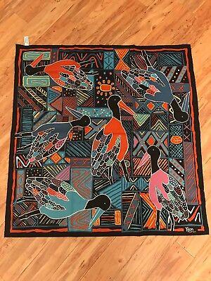 YIJAN Australia Aboriginal Bird print Scarf FRESCA AUSTRALIA