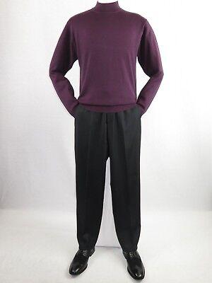Knit Mock Neck Pullover (Mens Inserch Mock Neck Pullover Knit Soft Cotton Blend Sweater Winter 4308 Plum)