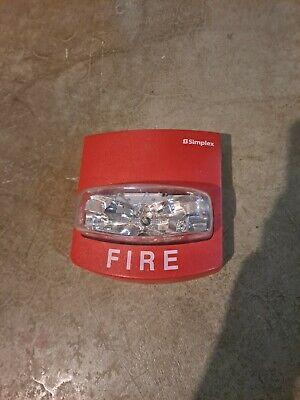 Simplex Fire Alarm Strobe Model 4904-9332 Red Smartsync
