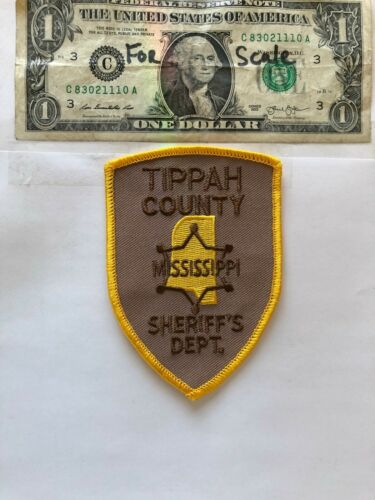 Rarer Tippah County Mississippi Police Patch Un-sewn great condition