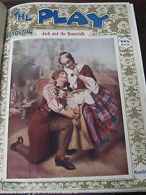 THE PLAY PICTORIAL MAGAZINES Costumes Vintage Fashion Design Set 1900 Stage Old