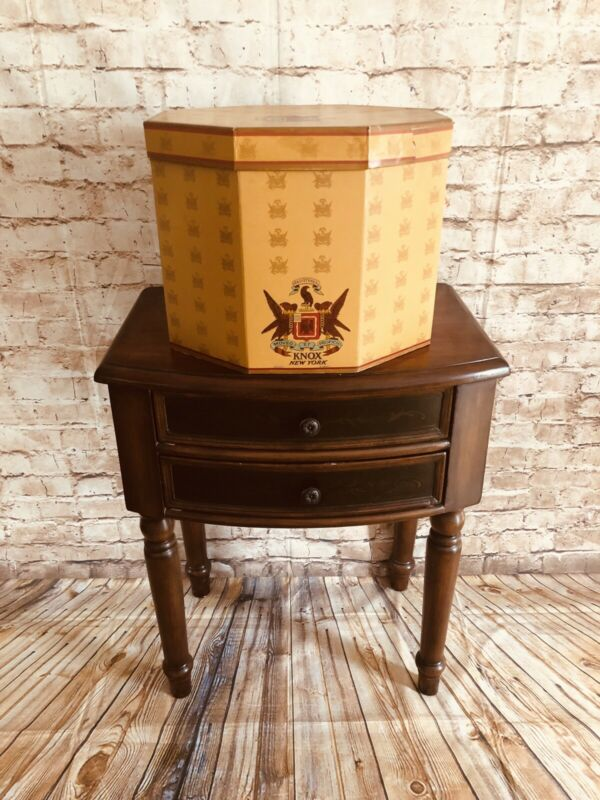 🎩🎩Vintage KNOX New York Hat Box With Inserts🎩🎩