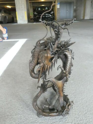 19TH CENTURY JAPANESE BRONZE DRAGON