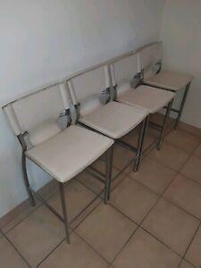 Durable white high chairs x 4