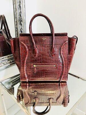 Celine Crocodile Skin - Phantom Luggage Bag