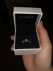 Pandora princess ring rose gold size 6