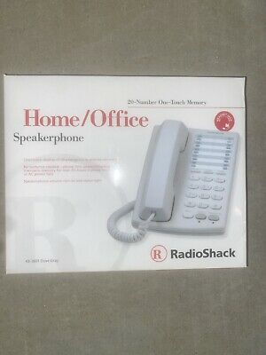 New Radioshack Homeoffice Speakerphone 20-number Memory 43-3601 Brand New