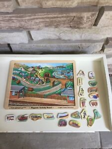 Melissa and Doug wooden magnetic train board