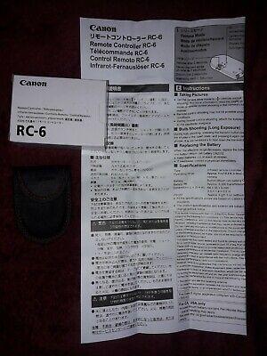 RC-6 Remote Control for Canon D-SLR 90D 80D 800D 70D 750D 700D 100D 7D Cameras