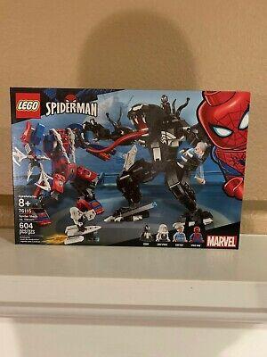 NEW NIB LEGO Marvel Spiderman #76115 - Spider Mech vs. Venom Age 8+, 604 Pcs