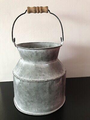 Zinc Metal Churn - Planter Garden Pot  Display Flowers Grey Plant -