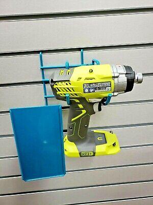 Blue Wire Slatwall Peg Board Retail Display W Sign Holder Fits Drill Power Tool