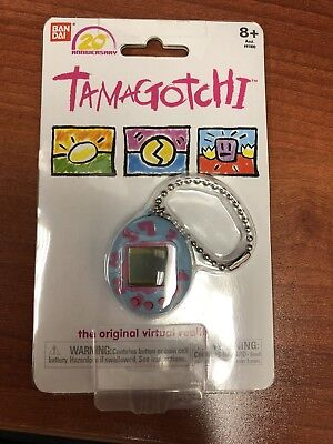New  Tamagotchi  20Th Anniversary Original Virtual Reality Pet Key Chain  Blue