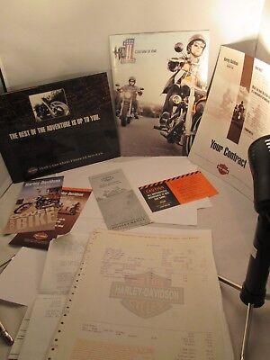 Harley Davidson Dealer Brochure Covers Models For 2011 Plus Other And Paperwork