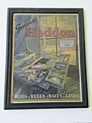 VINTAGE HEDDON ROD REEL TACKLE PICTURE DISPLAY ADVERTISING